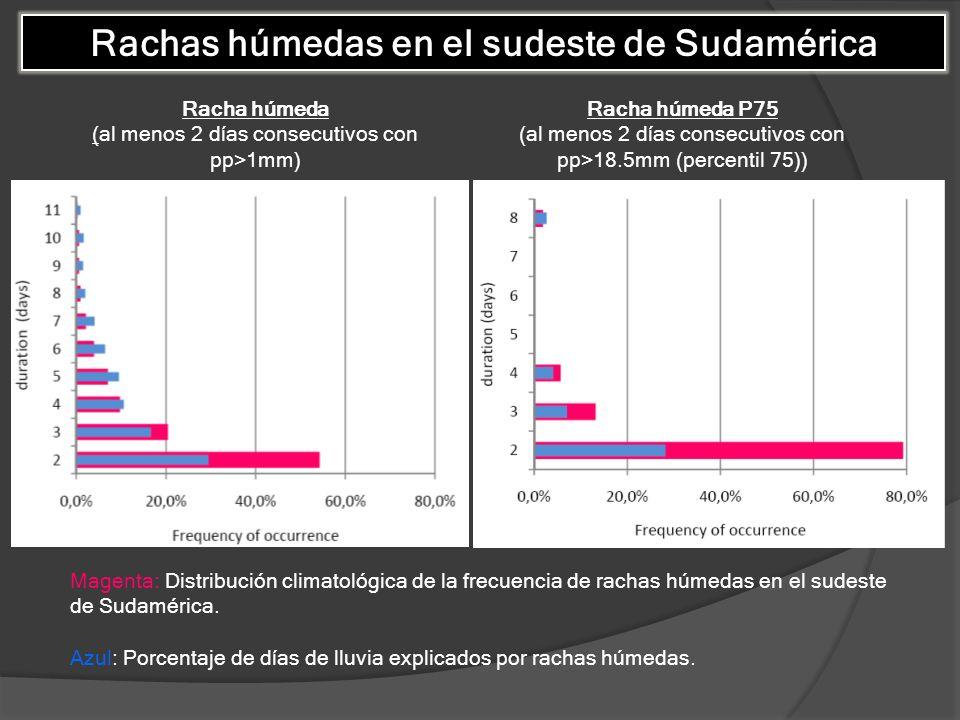 Rachas húmedas en el sudeste de Sudamérica