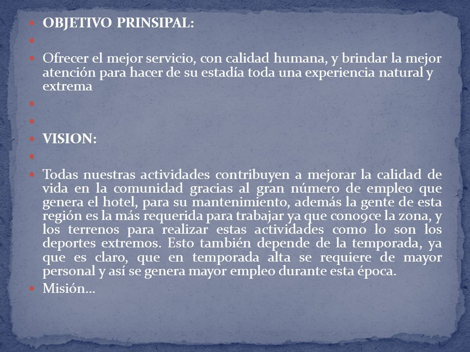 OBJETIVO PRINSIPAL: