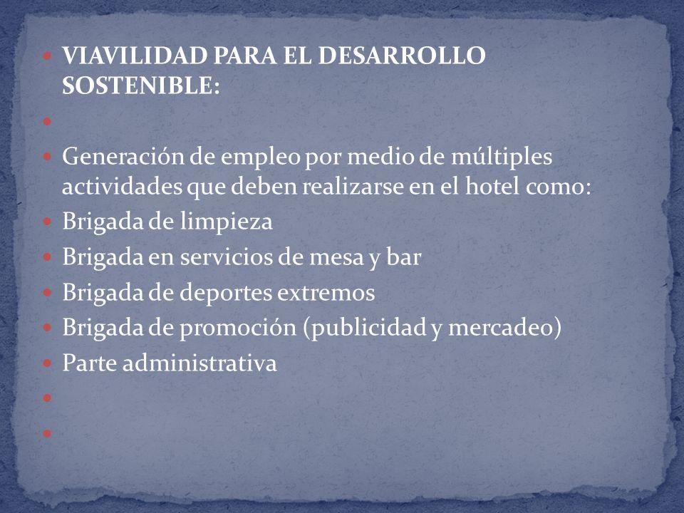 VIAVILIDAD PARA EL DESARROLLO SOSTENIBLE: