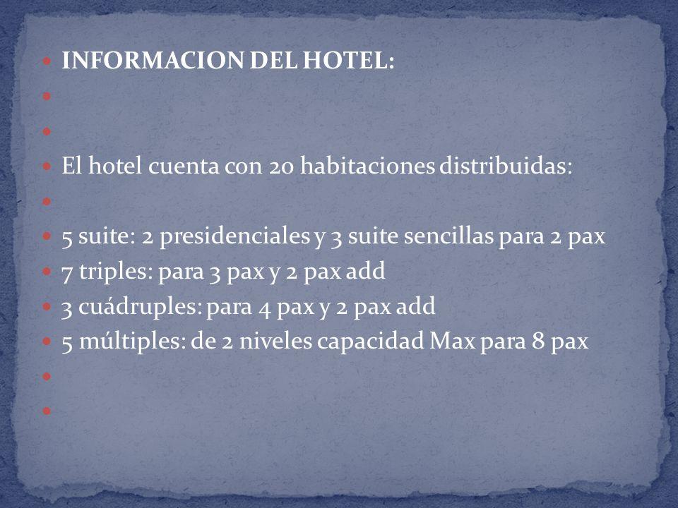 INFORMACION DEL HOTEL: