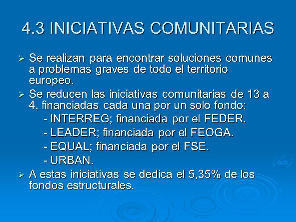 4.3 INICIATIVAS COMUNITARIAS