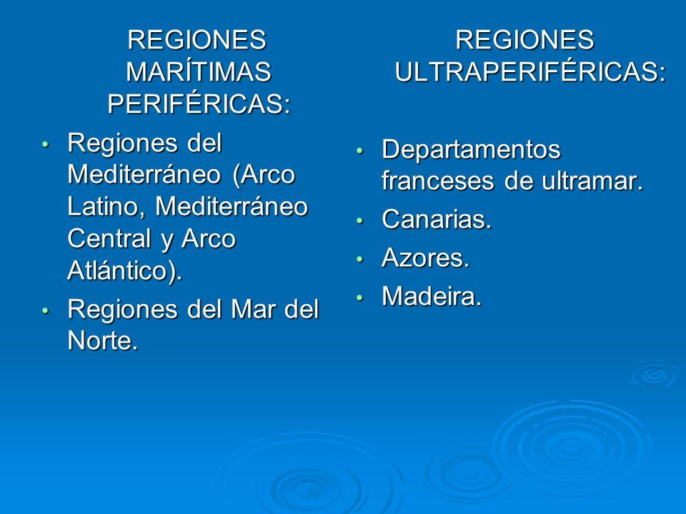 REGIONES MARÍTIMAS PERIFÉRICAS: