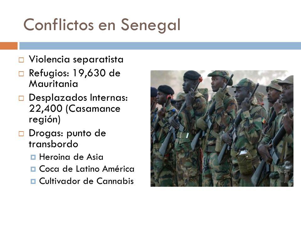 Conflictos en Senegal Violencia separatista