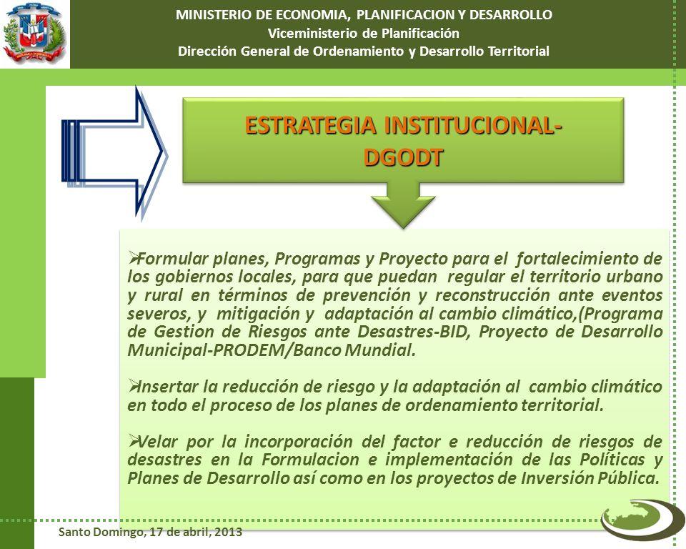 ESTRATEGIA INSTITUCIONAL- DGODT