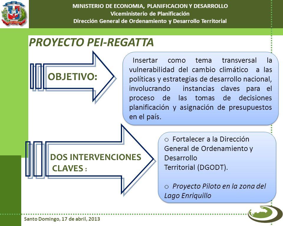 PROYECTO PEI-REGATTA OBJETIVO: DOS INTERVENCIONES CLAVES :