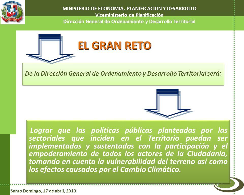 MINISTERIO DE ECONOMIA, PLANIFICACION Y DESARROLLO