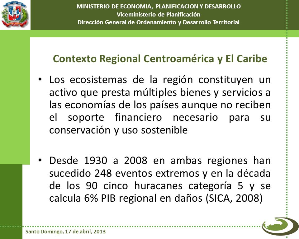 Contexto Regional Centroamérica y El Caribe