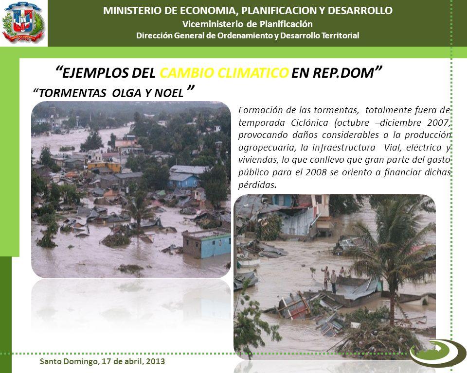 EJEMPLOS DEL CAMBIO CLIMATICO EN REP.DOM