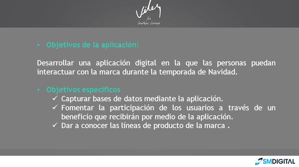 Objetivos de la aplicación: