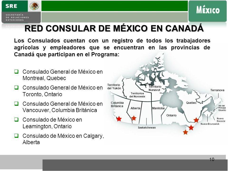 RED CONSULAR DE MÉXICO EN CANADÁ