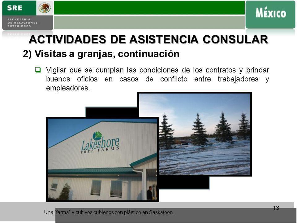 ACTIVIDADES DE ASISTENCIA CONSULAR
