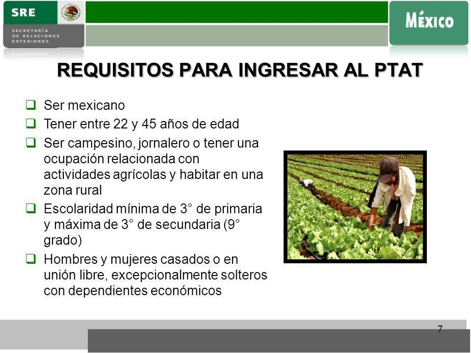 REQUISITOS PARA INGRESAR AL PTAT