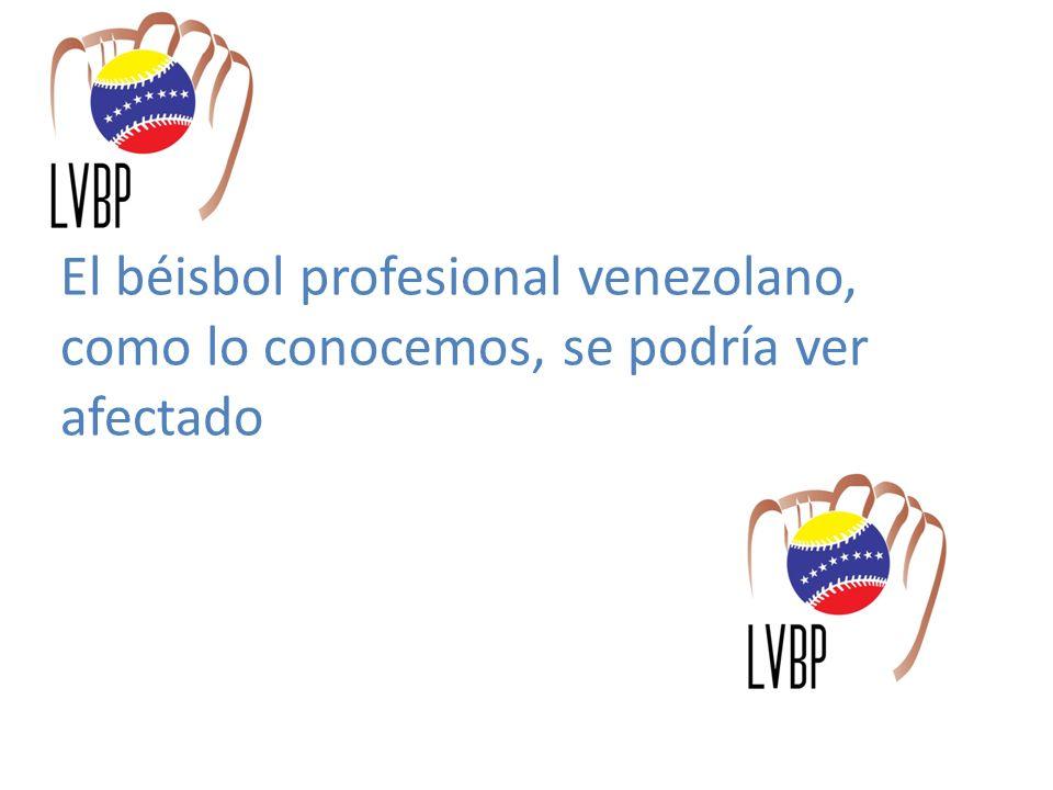 El béisbol profesional venezolano, como lo conocemos, se podría ver afectado