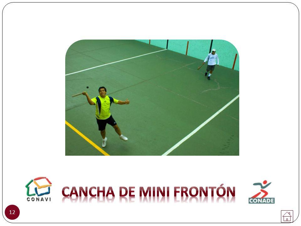 CANCHA DE MINI FRONTÓN