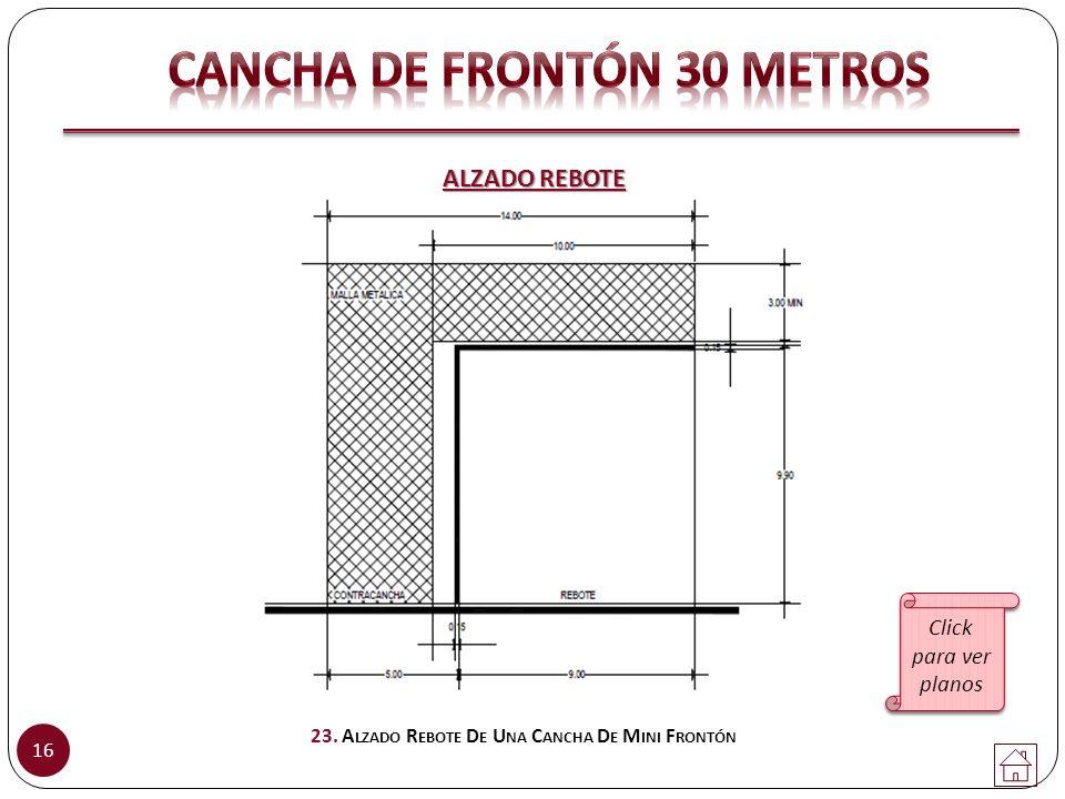 Cancha de FRONTÓN 30 metros