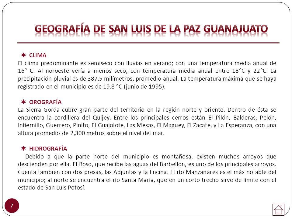 GEOGRAFÍA DE SAN LUIS DE LA PAZ GUANAJUATO