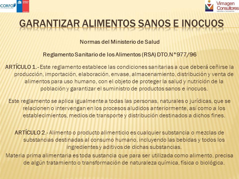 GARANTIZAR ALIMENTOS SANOS E INOCUOS