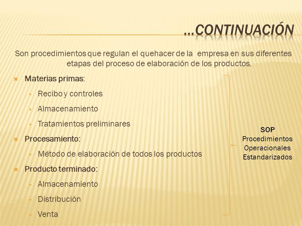 Procedimientos Operacionales Estandarizados
