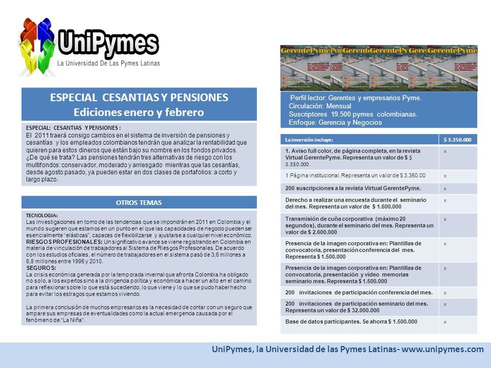 ESPECIAL CESANTIAS Y PENSIONES Ediciones enero y febrero
