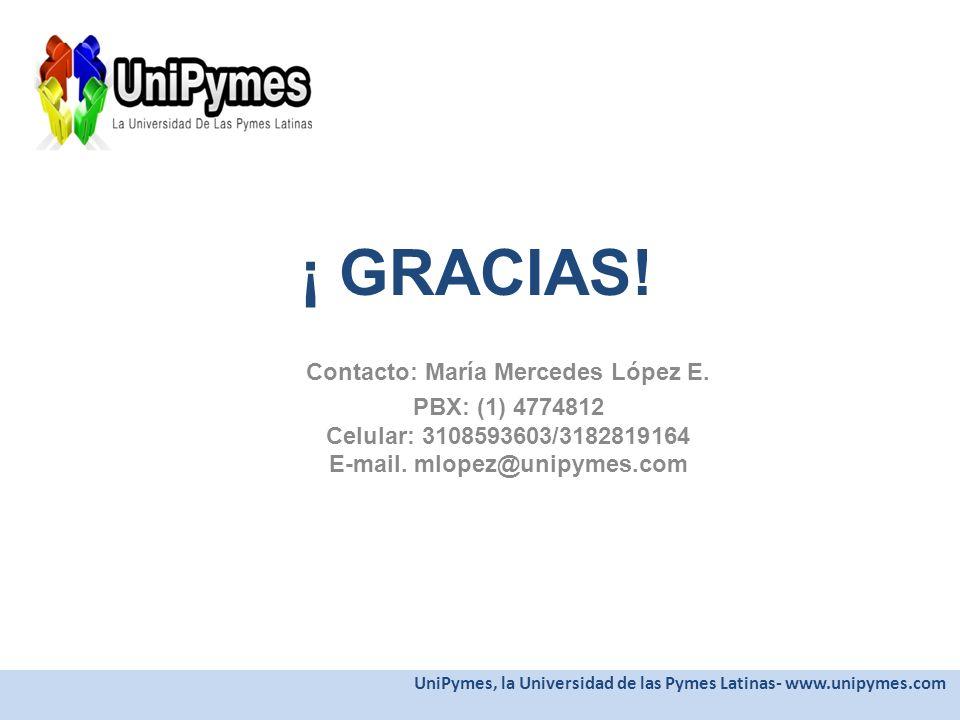 Contacto: María Mercedes López E.