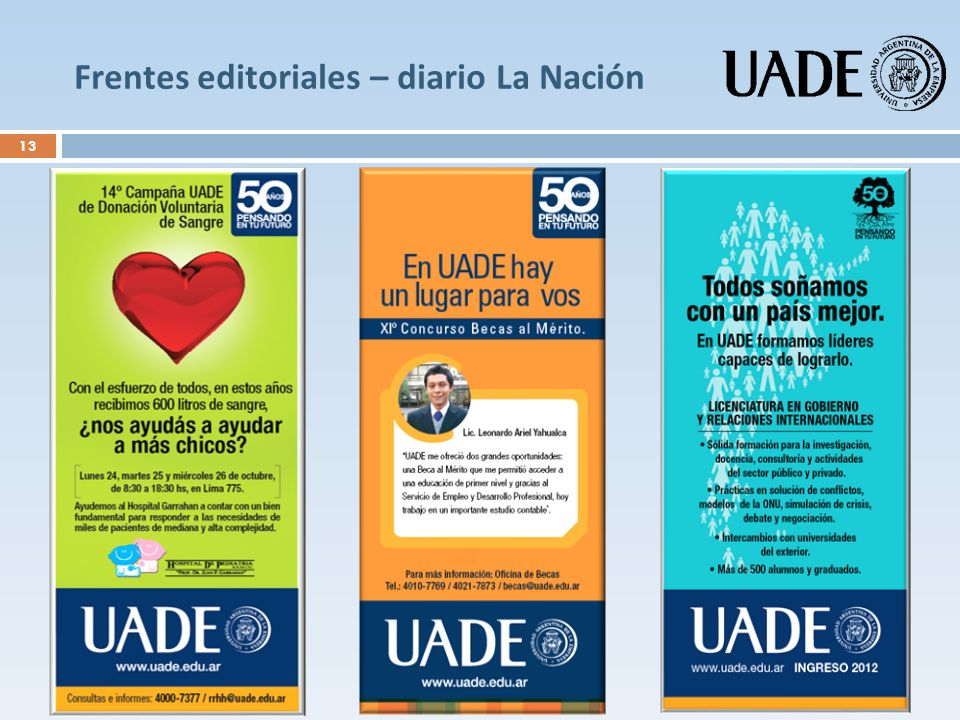 Frentes editoriales – diario La Nación