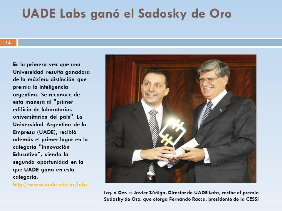 UADE Labs ganó el Sadosky de Oro