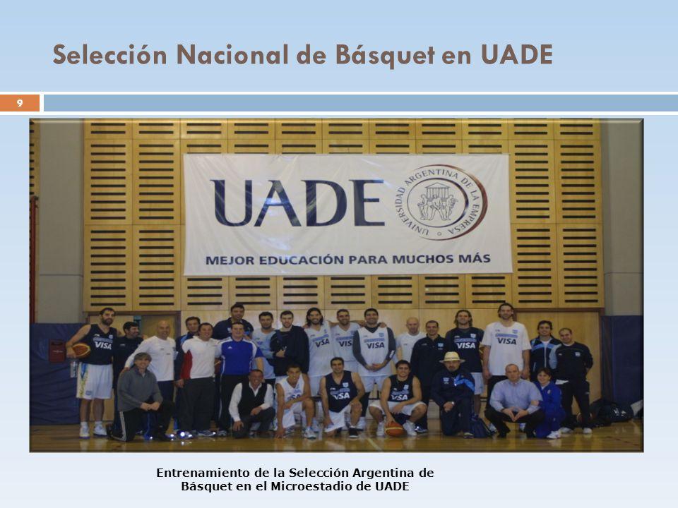 Selección Nacional de Básquet en UADE