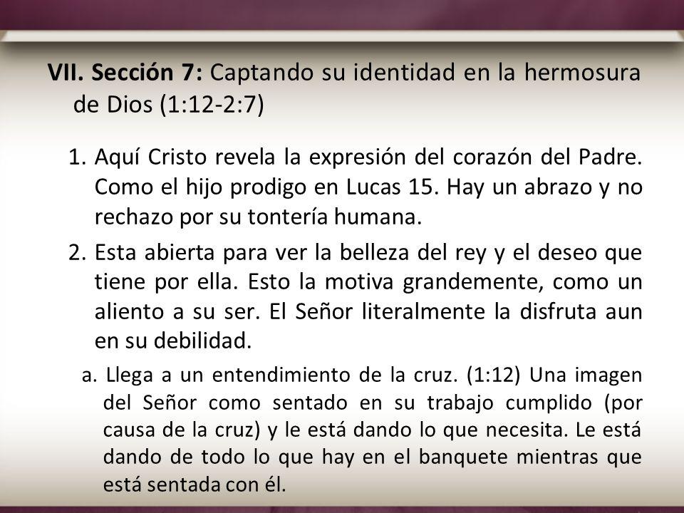 VII. Sección 7: Captando su identidad en la hermosura de Dios (1:12-2:7)