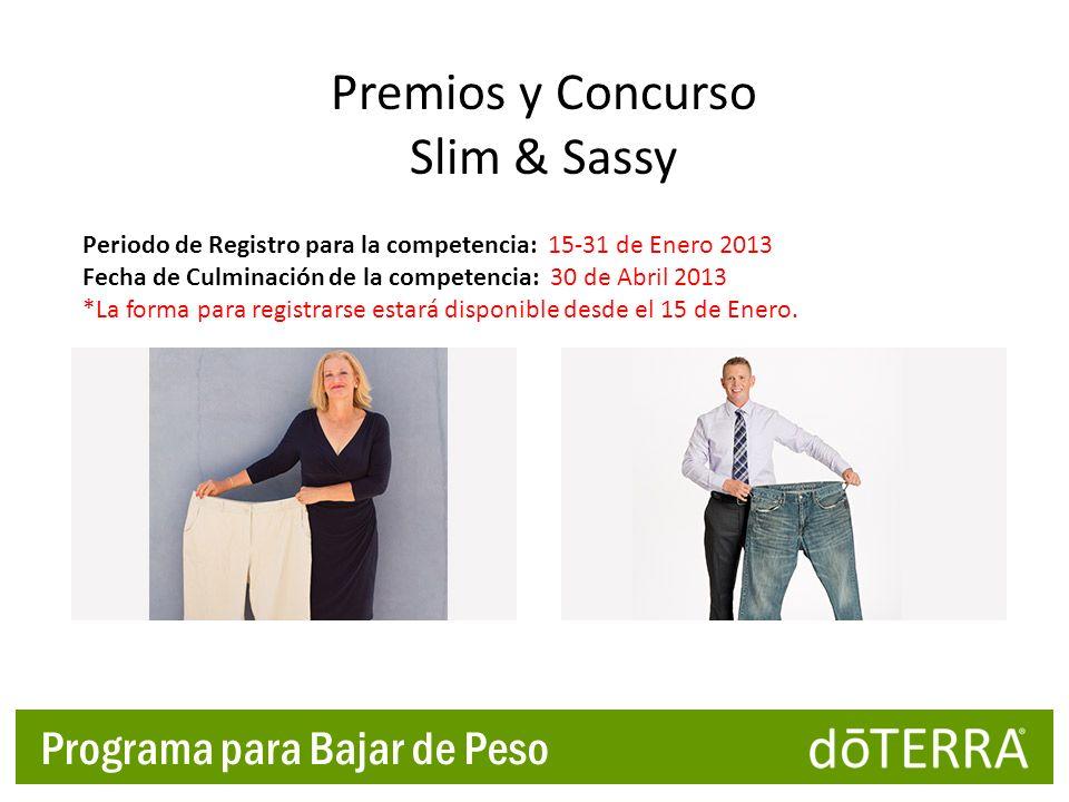 Premios y Concurso Slim & Sassy Programa para Bajar de Peso