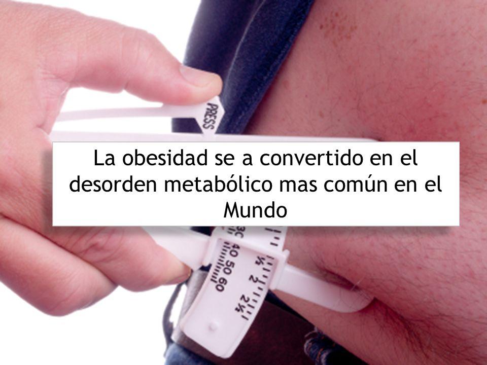 La obesidad se a convertido en el desorden metabólico mas común en el Mundo