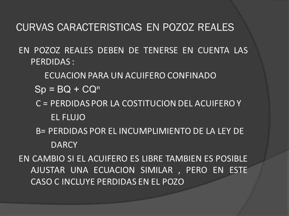 CURVAS CARACTERISTICAS EN POZOZ REALES