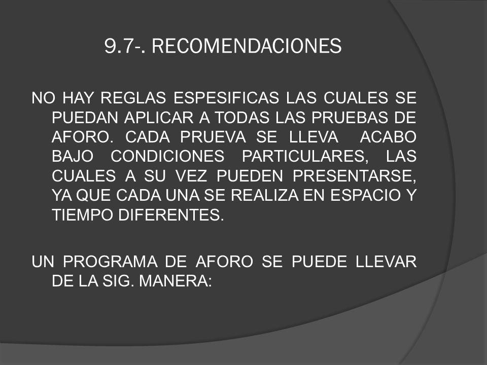9.7-. RECOMENDACIONES