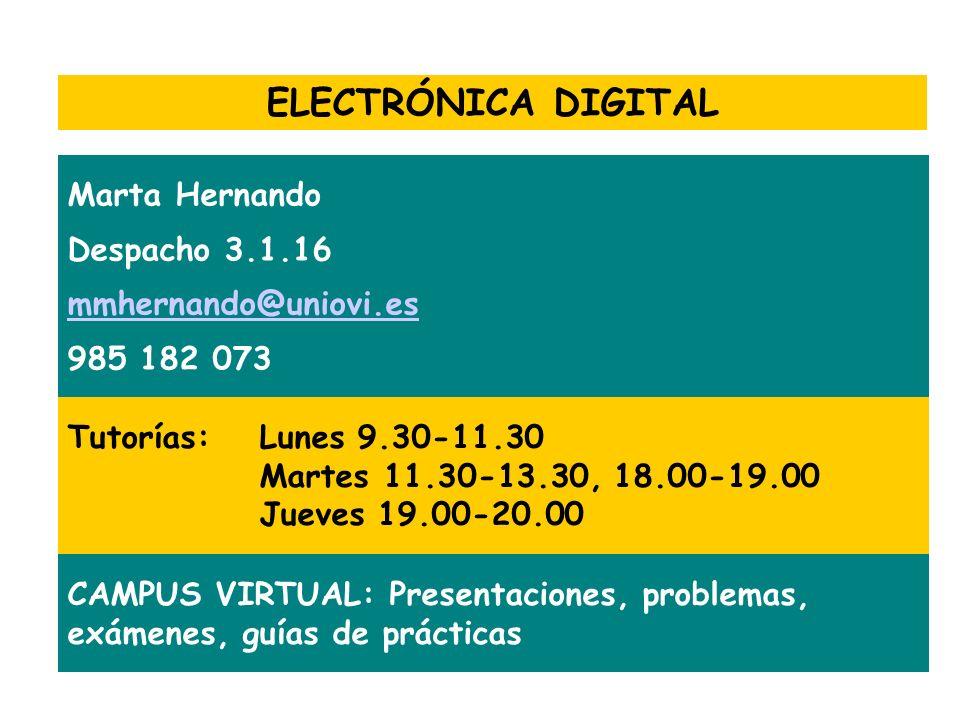 ELECTRÓNICA DIGITAL Marta Hernando Despacho 3.1.16