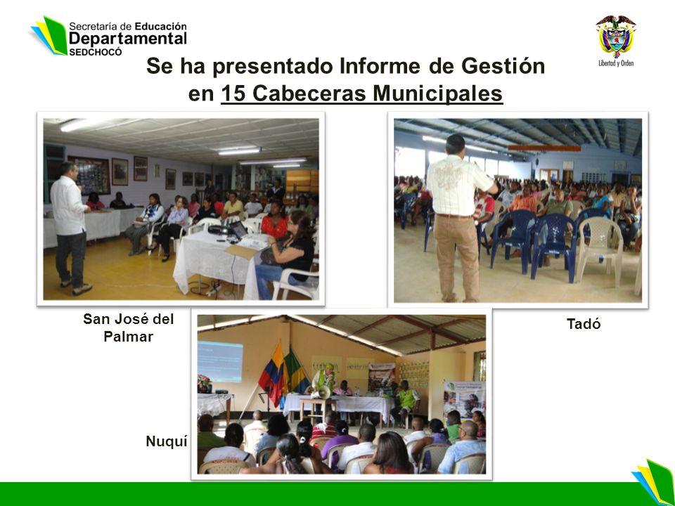 Se ha presentado Informe de Gestión en 15 Cabeceras Municipales