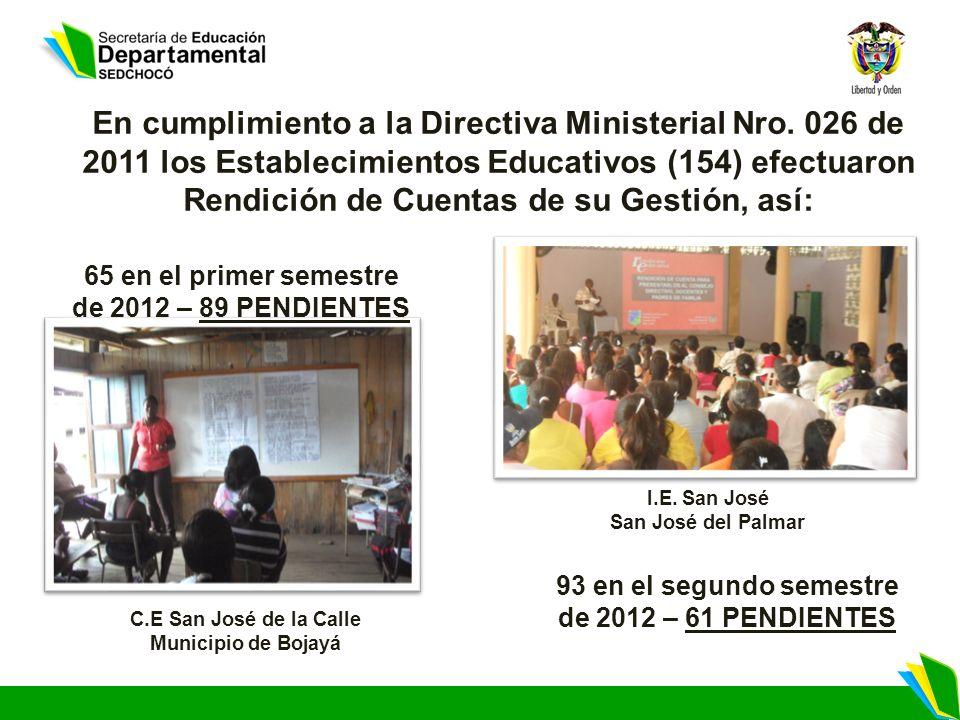 En cumplimiento a la Directiva Ministerial Nro