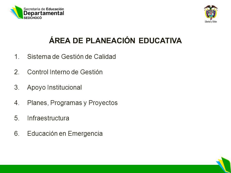 ÁREA DE PLANEACIÓN EDUCATIVA