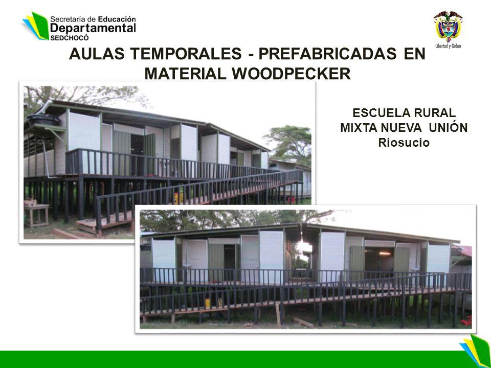 AULAS TEMPORALES - PREFABRICADAS EN MATERIAL WOODPECKER