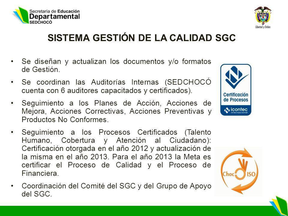 SISTEMA GESTIÓN DE LA CALIDAD SGC