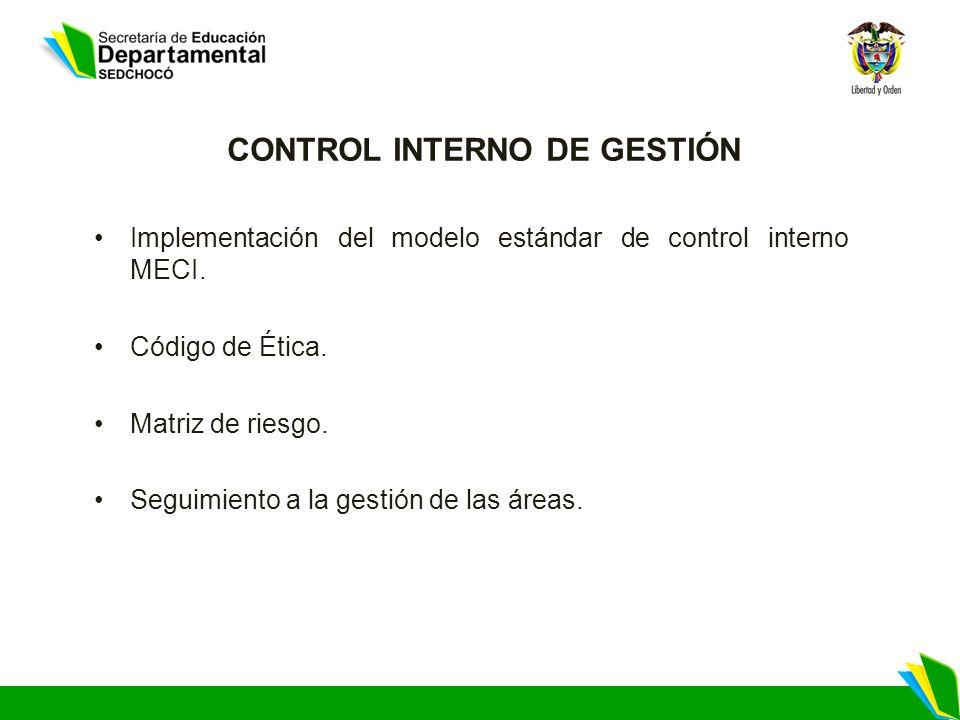 CONTROL INTERNO DE GESTIÓN