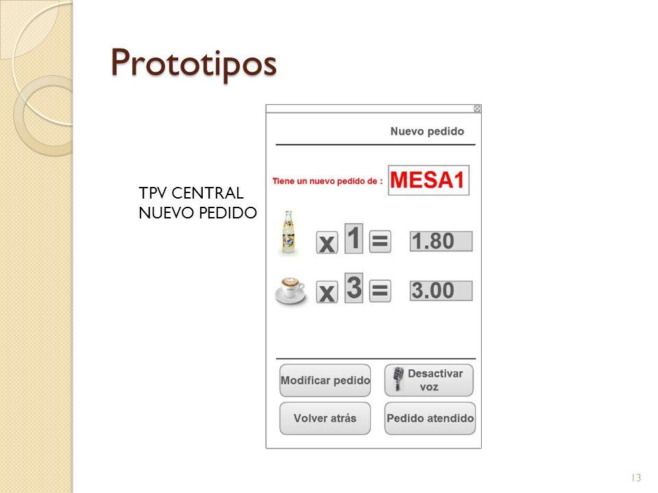 Prototipos TPV CENTRAL NUEVO PEDIDO