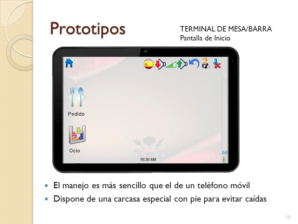 Prototipos El manejo es más sencillo que el de un teléfono móvil