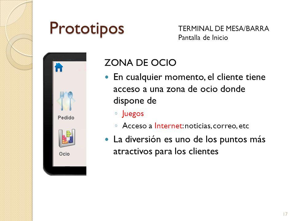 Prototipos ZONA DE OCIO