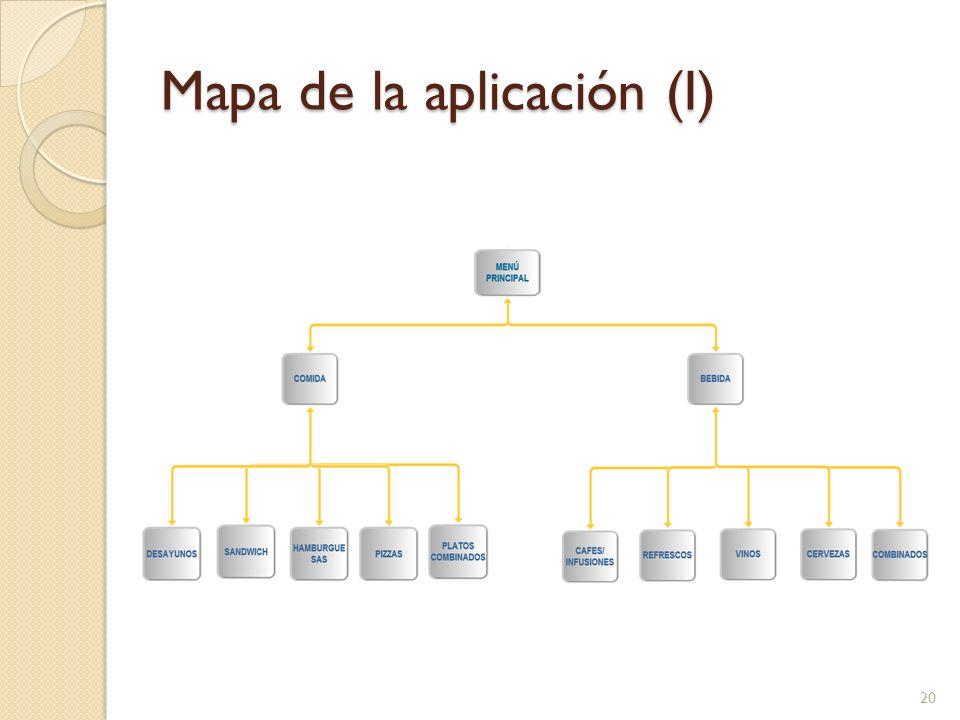 Mapa de la aplicación (I)
