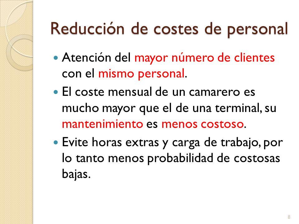 Reducción de costes de personal