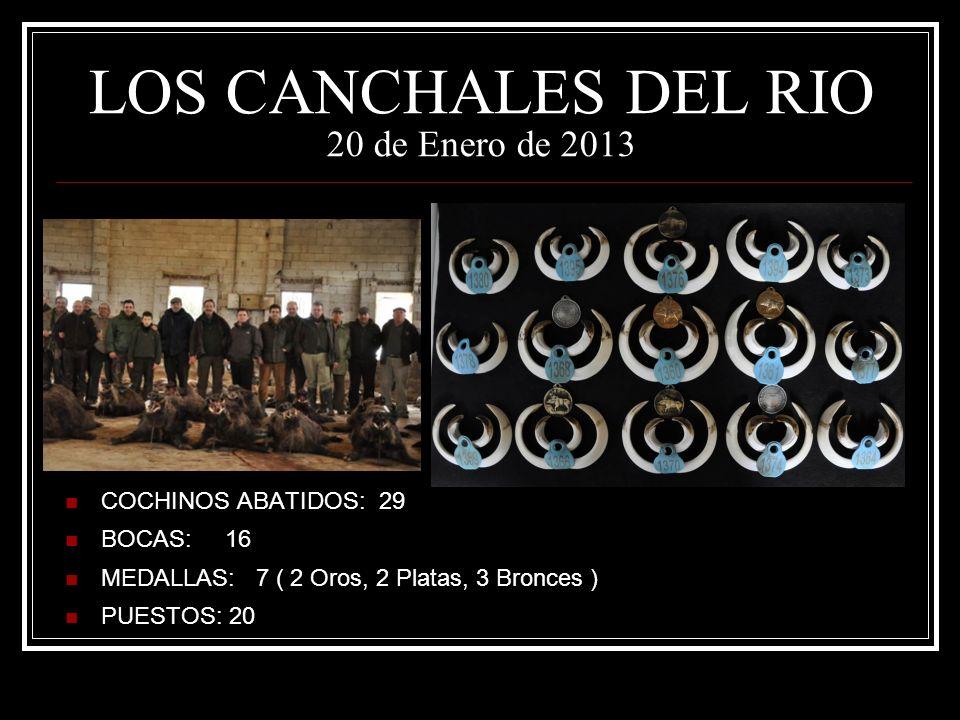 LOS CANCHALES DEL RIO 20 de Enero de 2013