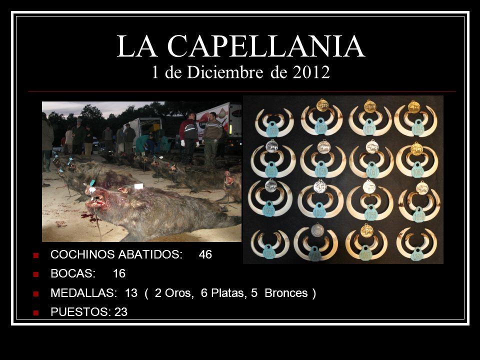 LA CAPELLANIA 1 de Diciembre de 2012