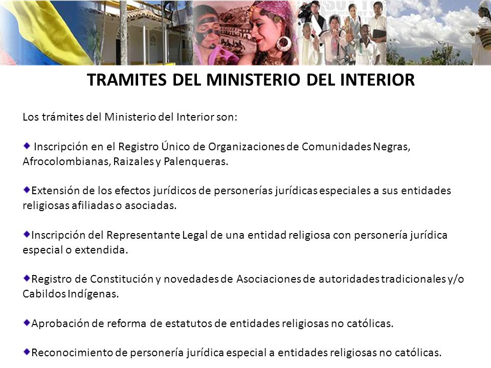 Ministerio del interior rep blica de colombia ppt descargar for Ministerio del interior bs as