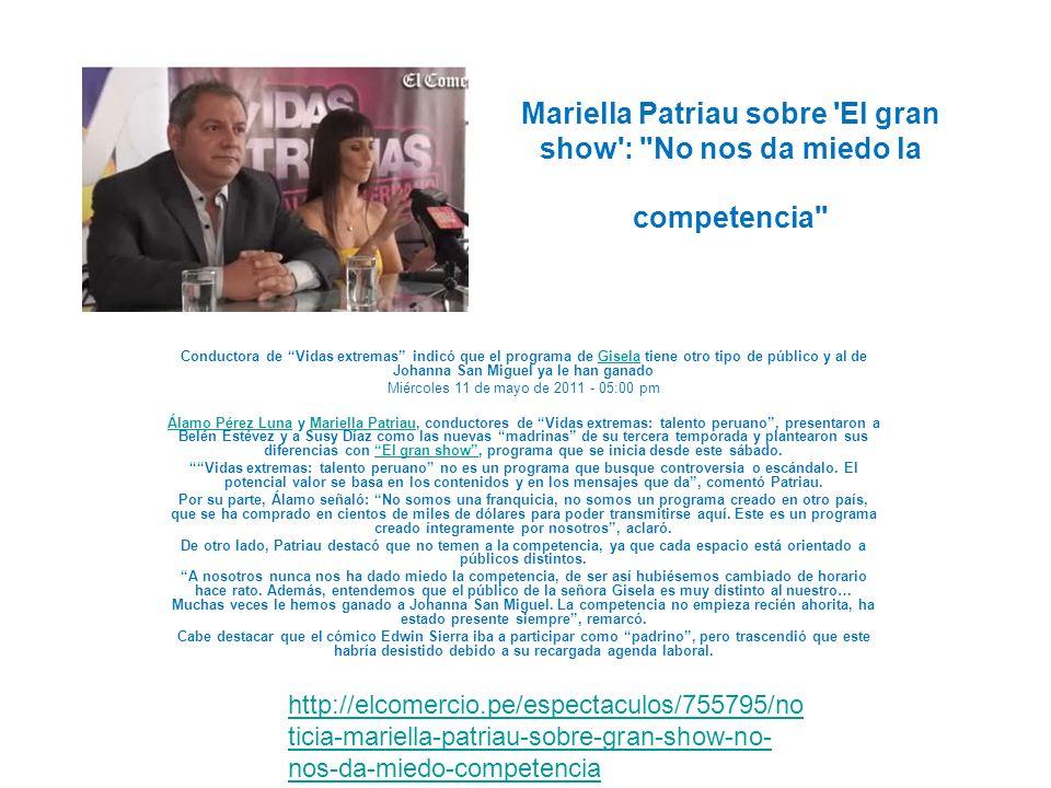 Miércoles 11 de mayo de 2011 - 05:00 pm