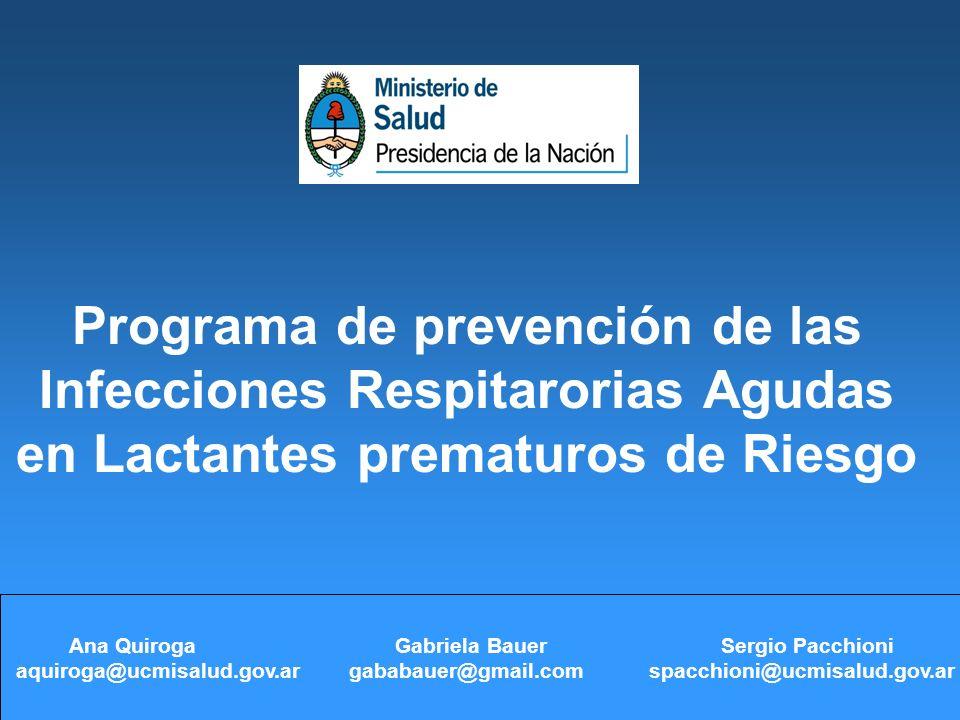 Programa de prevención de las Infecciones Respitarorias Agudas en Lactantes prematuros de Riesgo