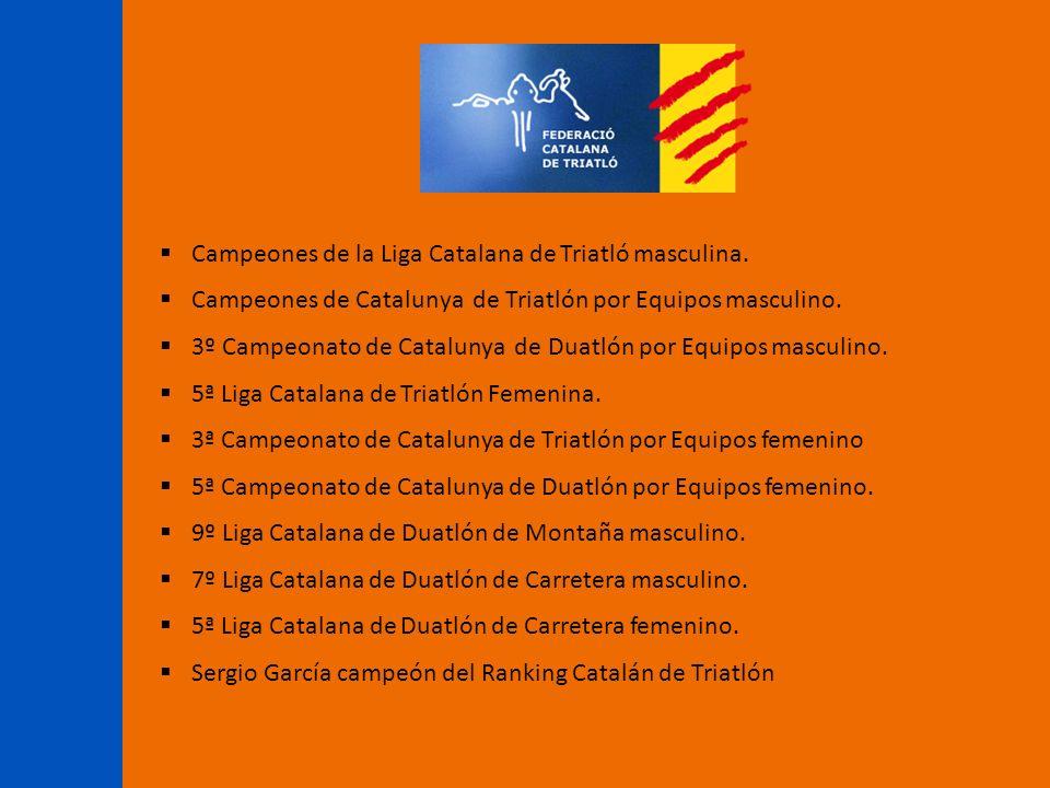 Campeones de la Liga Catalana de Triatló masculina.
